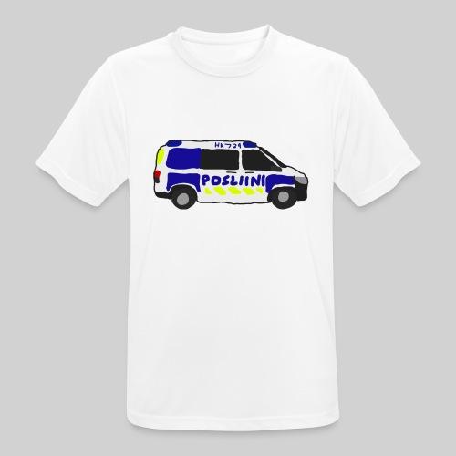 Posliini-Auto - miesten tekninen t-paita
