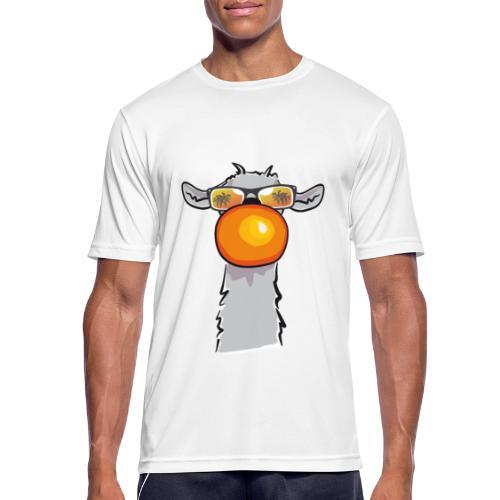 Chewing Llama - Männer T-Shirt atmungsaktiv