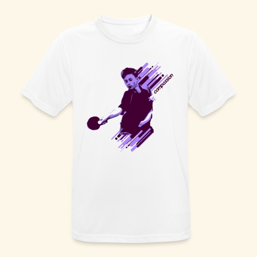 Compassion to win the table tennis championship - Männer T-Shirt atmungsaktiv
