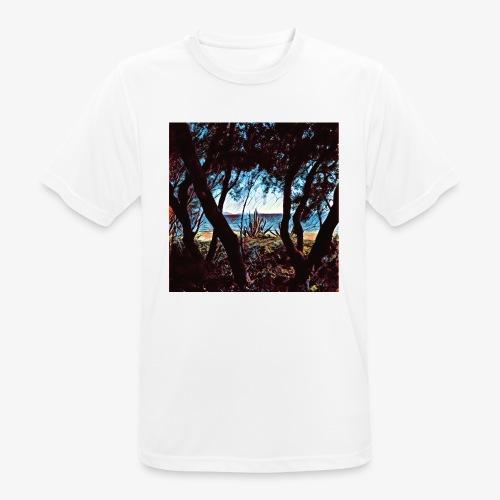 Vista mare dalla pineta - Maglietta da uomo traspirante