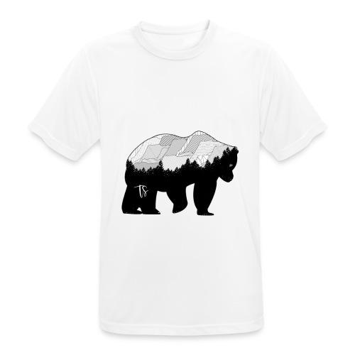 Geometric Mountain Bear - Maglietta da uomo traspirante