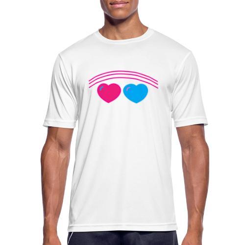 Das Design mit Herz - Männer T-Shirt atmungsaktiv