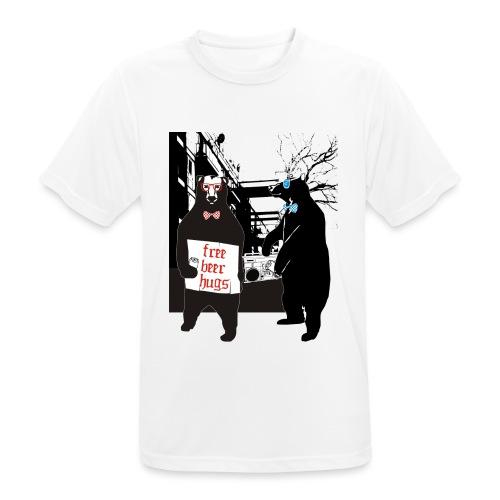 BEER BEARS - miesten tekninen t-paita