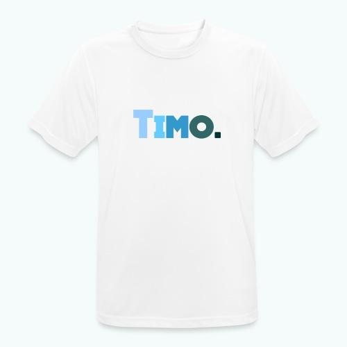 Timo in blauwe tinten - Mannen T-shirt ademend actief