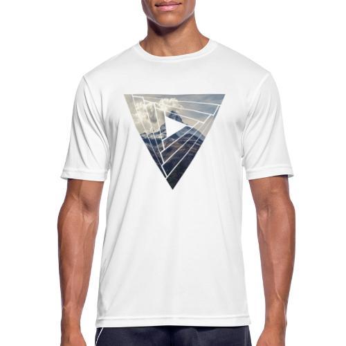 Matterhorn Zermatt Dreieck Design - Männer T-Shirt atmungsaktiv