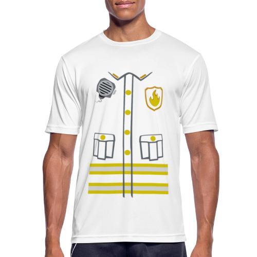 Fireman Costume - Dark edition - Men's Breathable T-Shirt