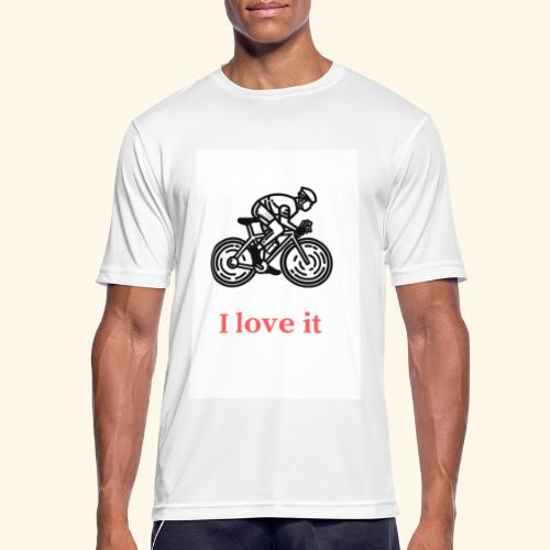 I love my bicycle - Koszulka męska oddychająca