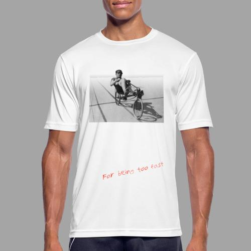 Recumbent Bike Banned since 1934 - miesten tekninen t-paita