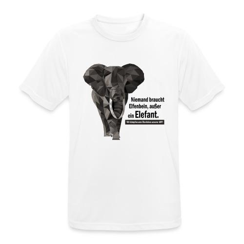 Niemand braucht Elfenbein, außer ein Elefant! - Männer T-Shirt atmungsaktiv