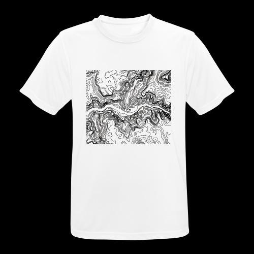 Hoehenlinien schwarz - Männer T-Shirt atmungsaktiv