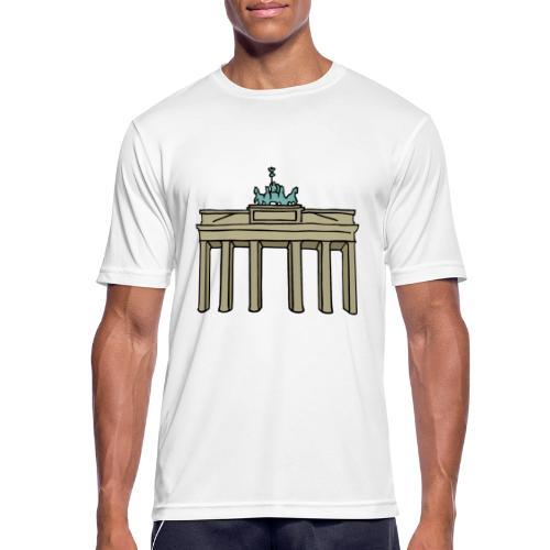 Porta di Brandeburgo a BERLINO c - Maglietta da uomo traspirante