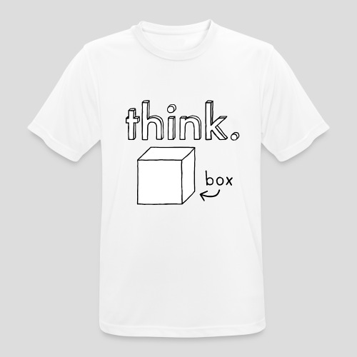 Think Outside The Box Illustration - Men's Breathable T-Shirt