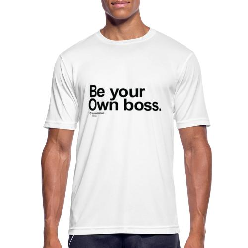 Boss in black - Men's Breathable T-Shirt