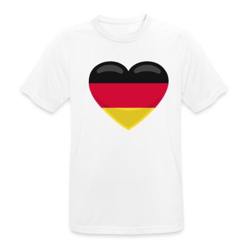 germany heart - Männer T-Shirt atmungsaktiv