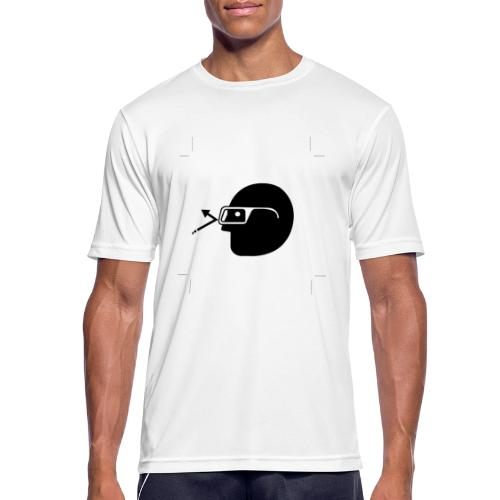 Kopf mit Brille - Männer T-Shirt atmungsaktiv