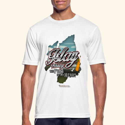 Whisky from Islay Peat of my Heart Tattoo Style - Männer T-Shirt atmungsaktiv