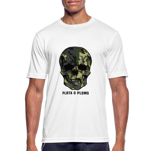 Colombian skull - plata o plomo - Männer T-Shirt atmungsaktiv
