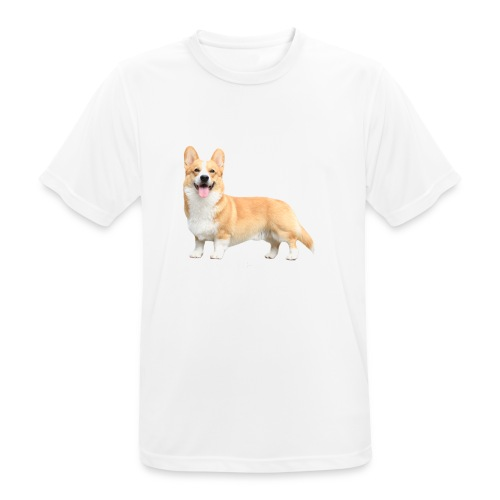 Topi the Corgi - White text - Men's Breathable T-Shirt