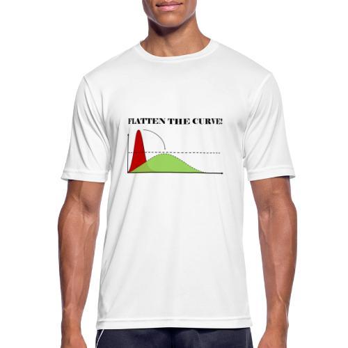 Flatten the curve - Men's Breathable T-Shirt