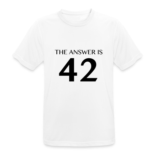 The Answer is 42 Black - Men's Breathable T-Shirt