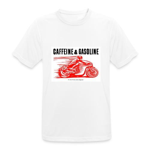 Caffeine & Gasoline black text - Men's Breathable T-Shirt