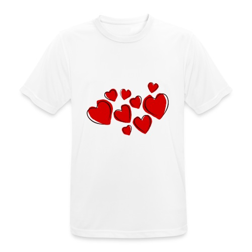 hearts herzen - Männer T-Shirt atmungsaktiv