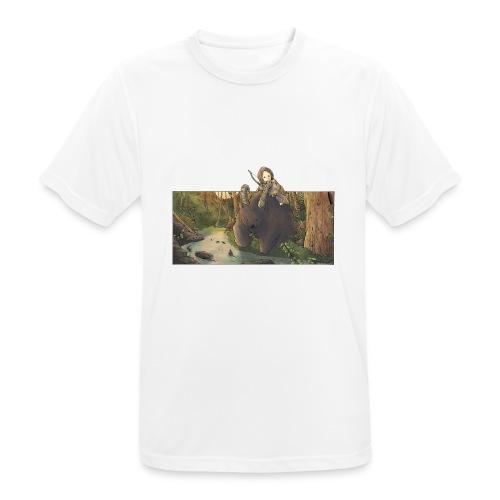 Orso e bambina - Wandering Claw - Maglietta da uomo traspirante