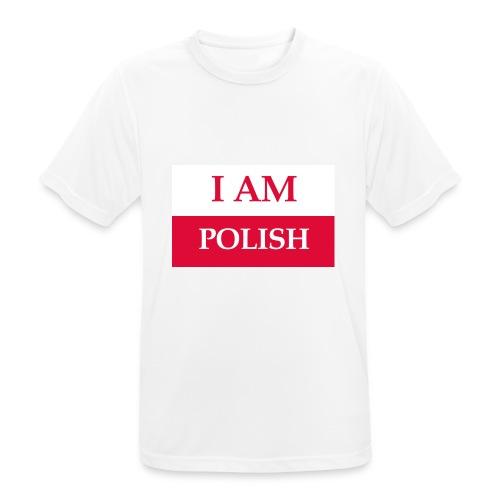 I am polish - Koszulka męska oddychająca