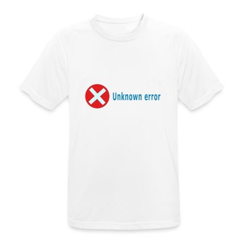 Unkown Error - miesten tekninen t-paita