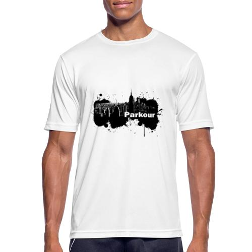 Parkour Splash New York - Herre T-shirt svedtransporterende