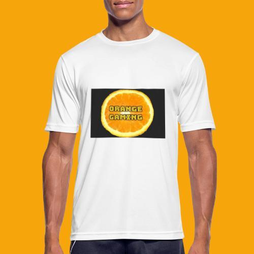 Orange_Logo_Black - Men's Breathable T-Shirt