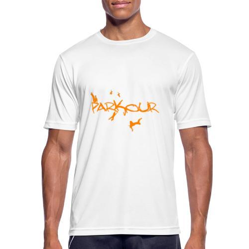Parkour Orange - Herre T-shirt svedtransporterende