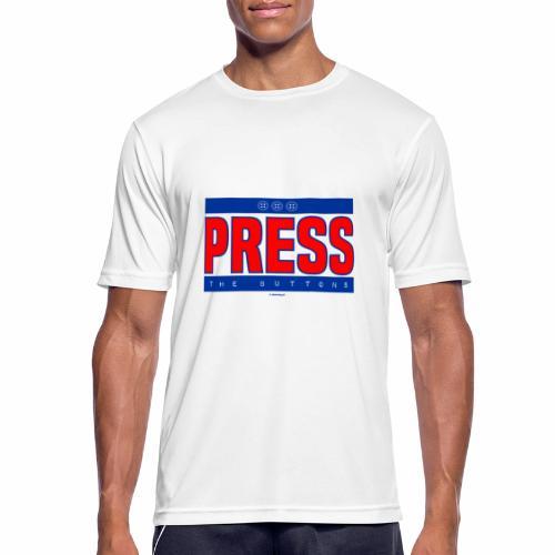 Press the buttons - Mannen T-shirt ademend actief