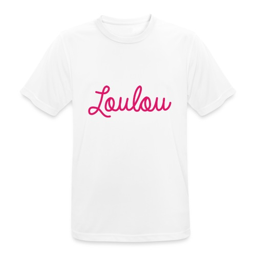 Logo-Roze - Mannen T-shirt ademend actief