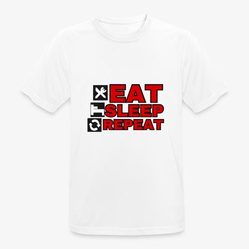 EAT SLEEP REPEAT T-SHIRT GOOD QUALITY. - Men's Breathable T-Shirt