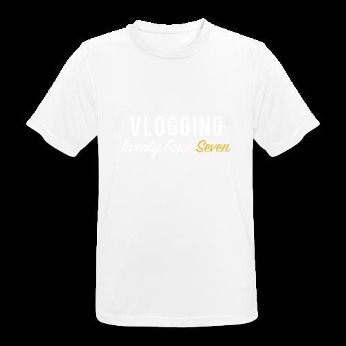 VLOGGING Twenty Four Seven - Men's Breathable T-Shirt