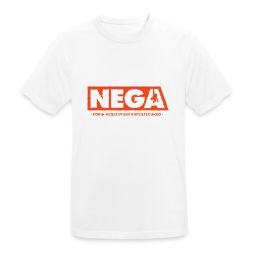 Kapea peruslogo Miehet - miesten tekninen t-paita