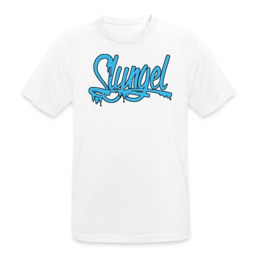 lysebla - Pustende T-skjorte for menn