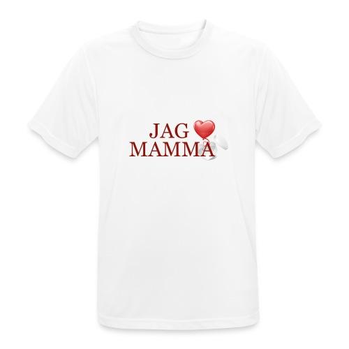 Jag älskar mamma - Andningsaktiv T-shirt herr