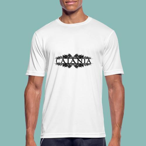 Caiania-logo musta - miesten tekninen t-paita