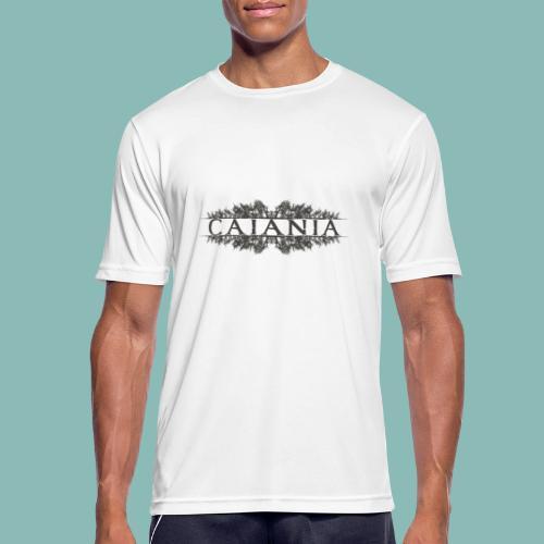 Caiania-logo harmaa - miesten tekninen t-paita