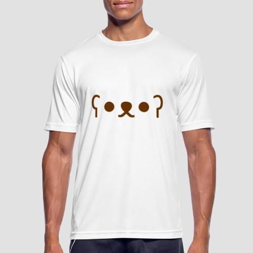 Kuma Kaomoji (Marron) - T-shirt respirant Homme