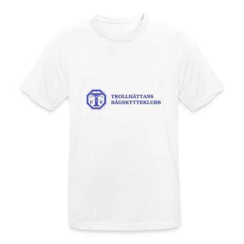 Piké Herr Slim - Tävlingströja med ryggtryck - Andningsaktiv T-shirt herr