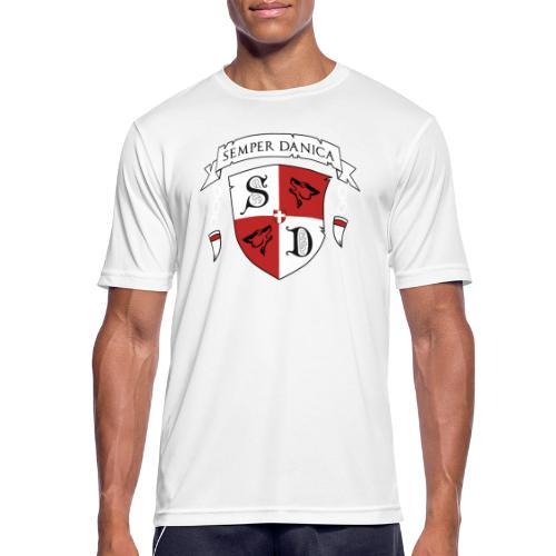 SD logo - hvide lænker - Herre T-shirt svedtransporterende