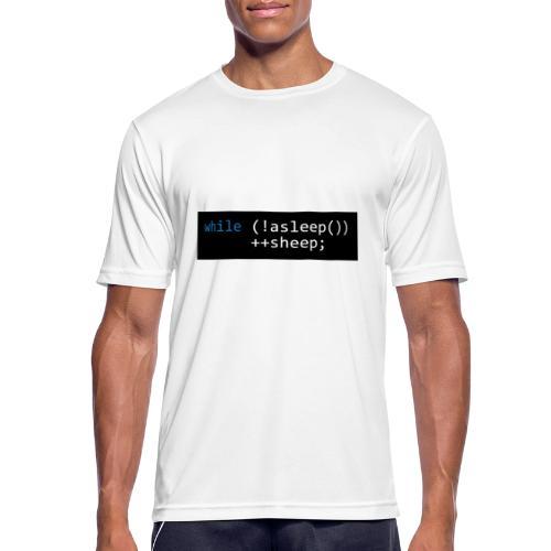 while (!asleep()) ++sheep; - Mannen T-shirt ademend actief