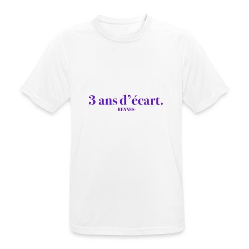 3 Ans D'écart - Nom & Localisation - T-shirt respirant Homme