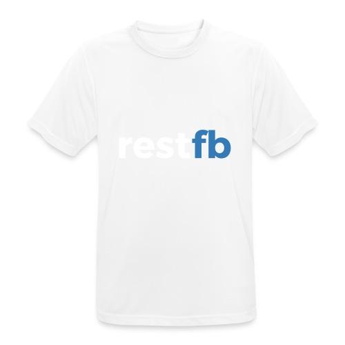 RestFB logo white - Men's Breathable T-Shirt