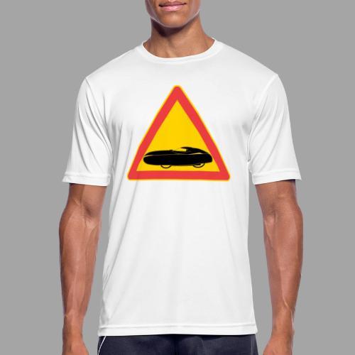 Traffic sign velomobile - miesten tekninen t-paita