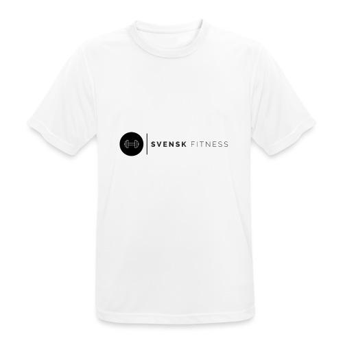Svart logo vertikal dam - Andningsaktiv T-shirt herr