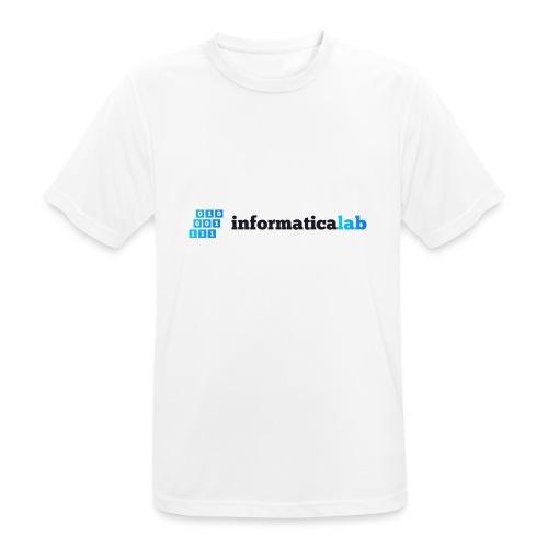 InformaticaLab logo for white background - Maglietta da uomo traspirante
